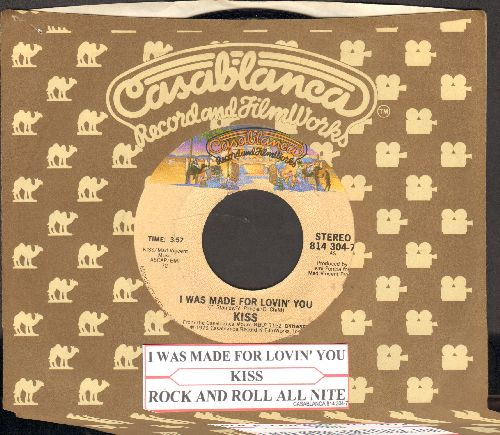 KISS - I Was Made For Lovin' You/Hard Times (with Casablanca company sleeve and juke box label) - NM9/ - 45 rpm Records