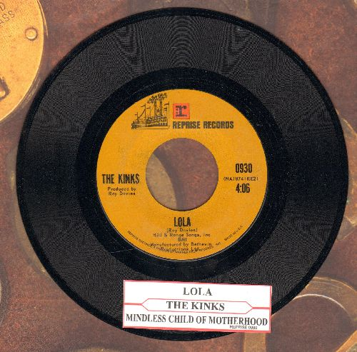 Kinks - Lola/Mindless Child Of Motherhood - NM9/ - 45 rpm Records