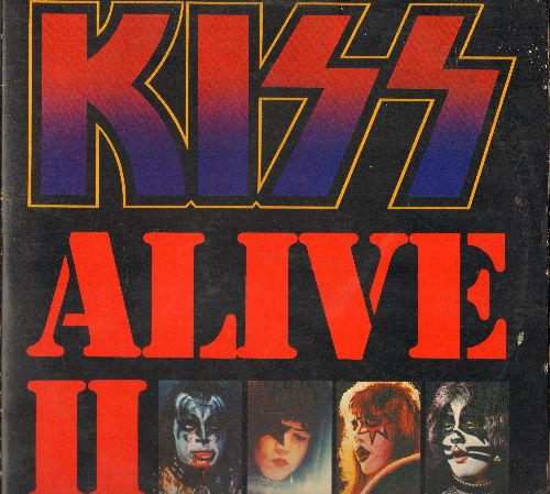 KISS - KISS Alive II: Detroit Rock City, Love Gun, Calling Dr. Love, Roclin' In The USA (2 vinyl STEREO LP records, gate-fold cover) - EX8/VG7 - LP Records
