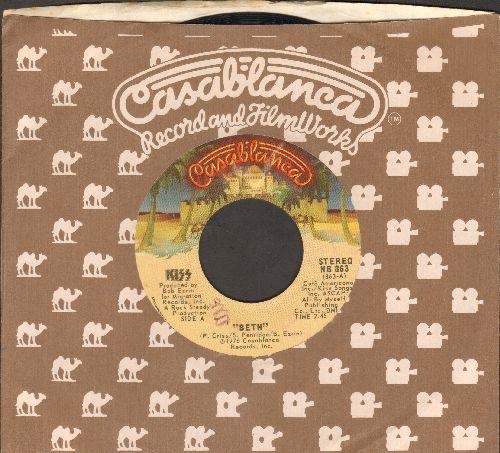KISS - Beth/Detroit Rock City (with Casablanca company sleeve) - EX8/ - 45 rpm Records