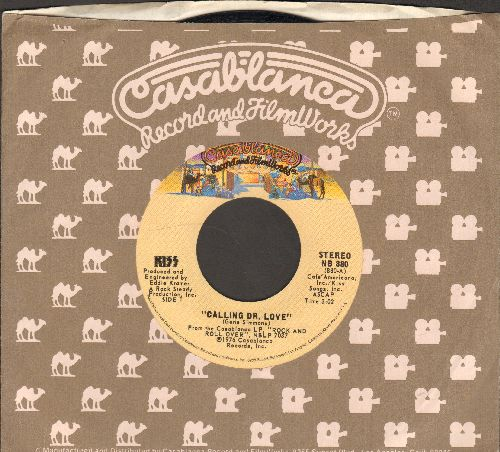 KISS - Calling Dr. Love/Take Me (with Casablanca company sleeve)(wol) - VG7/ - 45 rpm Records