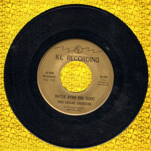 Kossins, Dick Orchestra - Battle Hymn Rag/Firehouse Rag (Dixieland Band Style 2-sider!) - NM9/ - 45 rpm Records