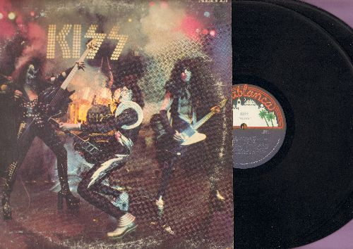 KISS - Alive!: Deuce, Firehouse, Black Diamond, Rock Bottom, Let Me Go Rock And Roll (2 vinyl LP record set, gate-fold cover) - EX8/VG6 - LP Records