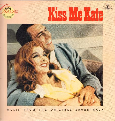 Kiss Me Kate - Kiss Me Kate - Music From The Original Soundtrack: Too Darn Hot, Wunderbar, I Hate Men, So In Love (Vinyl LP record, re-issue of vintage recordings) - NM9/EX8 - LP Records