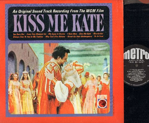 Kiss Me Kate - Kiss Me Kate - Music From The Original Soundtrack: Too Darn Hot, Wunderbar, I Hate Men, So In Love (Vinyl LP record, early re-issue of vintage recordings) - NM9/NM9 - LP Records