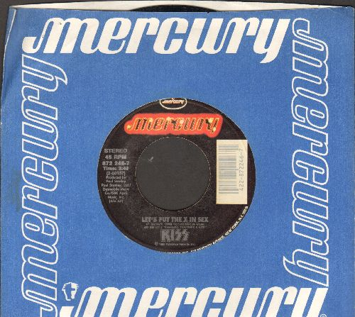 KISS - Let's Put The X In Sex/Calling Dr. Love (with Mercury company sleeve) - NM9/ - 45 rpm Records