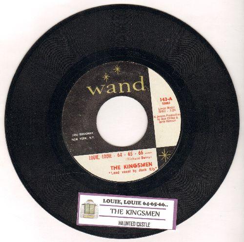 Kingsmen - Louie Louie - 64 - 64 - 66 ---  (FRAT PARTY FAVORITE!)/Haunted Castle (with juke box label) - NM9/ - 45 rpm Records