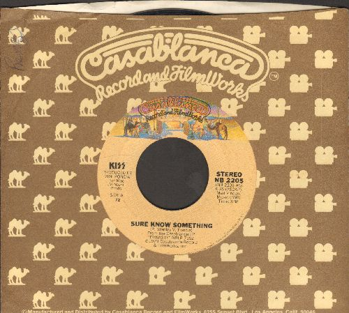 KISS - Sure Know Something/Dirty Livin'  (with Casablanca company sleeve) - VG7/ - 45 rpm Records