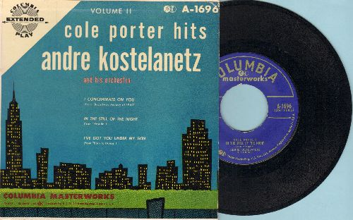 Kostelanetz, Andre - Cole Porter Hits Vol. 2: In The Still Of The Night/I've Got You Under My Skin/I Concentrate On You (vinyl EP record with picture cover) - EX8/NM9 - 45 rpm Records