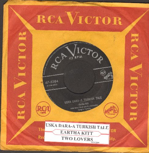Kitt, Eartha - Uska Dara - A Turkish Tale/Two Lovers (with juke box label and vintage RCA company sleeve) - EX8/ - 45 rpm Records
