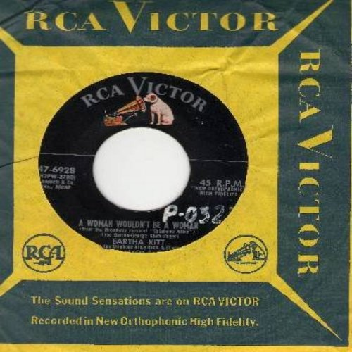 Kitt, Eartha - A Woman Wouldn't Be A Woman/Toujour Gai (with RCA company sleeve) (wol) - EX8/ - 45 rpm Records