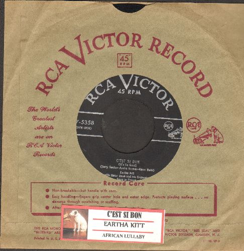 Kitt, Eartha - C'est Si Bon/African Lullaby (with vintage RCA company sleeve and juke box label) - VG7/ - 45 rpm Records