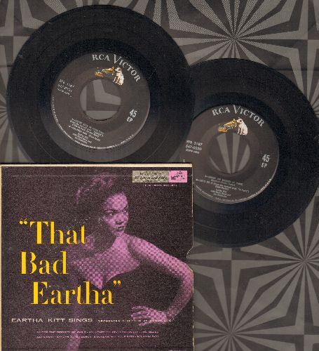 Kitt, Eartha - That Bad Eartha: C'est Si Bon (It's So Good)/The Blues/Salanga Dou/Sandy's Tune, Senor/Let's Do It/My Heart Belongs To Daddy/Under The Bridges Of Paris/Smoke Gets In Your Eyes/I Want To Be Evil (2 vinyl EP record set with picture cover, cou