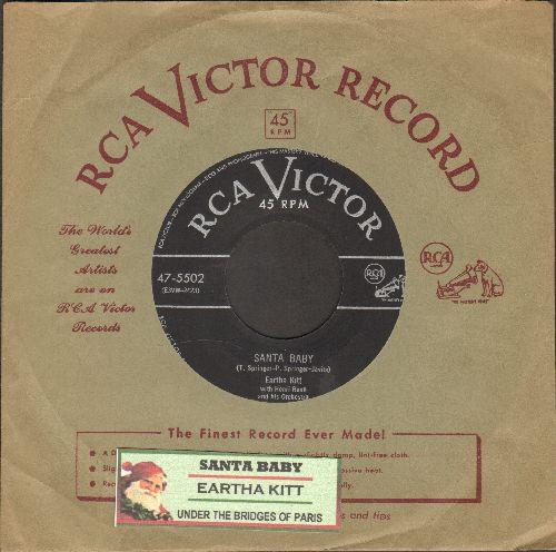 Kitt, Eartha - Santa Baby/Under The Bridges Of Paris (with vintage RCA company sleeve) - EX8/ - 45 rpm Records