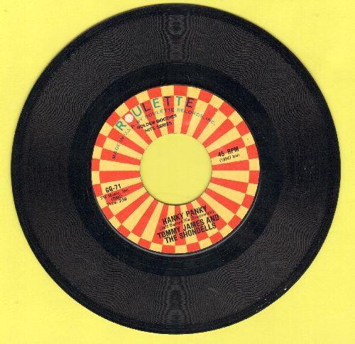 James, Tommy & The Shondells - I Think We're Alone Now/Hanky Panky (double-hit re-issue) - NM9/ - 45 rpm Records