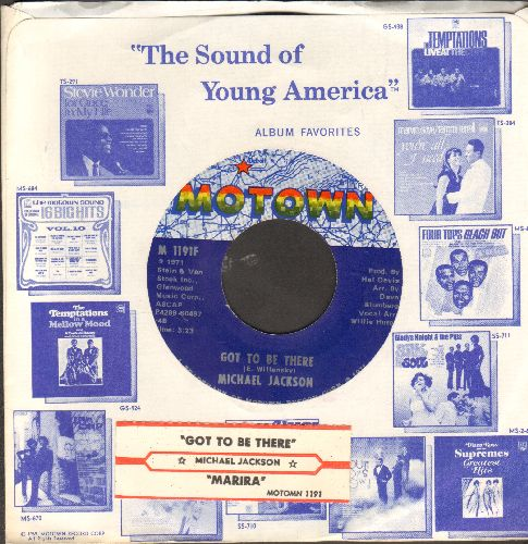Jackson, Michael - Maria (You Were The Only One)/Got To Be There (with juke box label Motown company sleeve) - NM9/ - 45 rpm Records