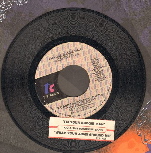 K.C. & The Sunshine Band - I'm Your Boogie Man/Wrap Your Arms Around Me (with juke box label) - EX8/ - 45 rpm Records