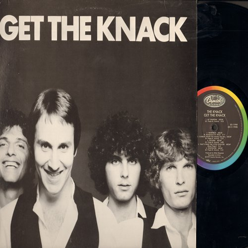 Knack - Get The Knack: My Sharona, Good Girls Don't, Lucinda, Heartbeat, Oh Tara, Let Me Out (Vinyl STEREO LP record) - EX8/VG7 - LP Records