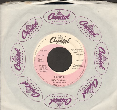 Knack - Baby Talks Dirty/End Of The Game (with Capitol company sleeve) - M10/ - 45 rpm Records