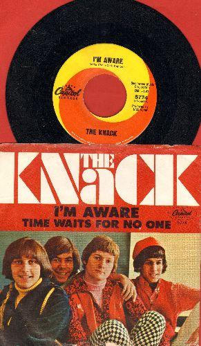 Knack - I'm Aware/Time Waits For No One (with picture sleeve) - M10/VG6 - 45 rpm Records