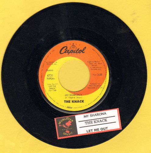 Knack - My Sharona/Let Me Out (Billboard's 1980 Song Of The Year, 6 Weeks at # 1 of US Pop Chart!) (with juke box label) - NM9/ - 45 rpm Records
