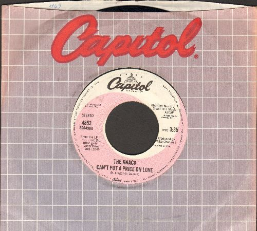 Knack - Can't Put A Price On Love/(Havin' A) Rave-Up (with Capitol company sleeve) - NM9/ - 45 rpm Records