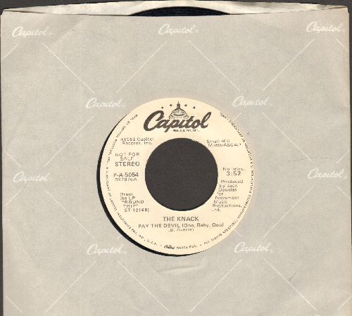 Knack - Pay The Devil (Ooo Baby Ooo) (double-A-sided DJ advance pressing with Capitol company sleeve) - EX8/ - 45 rpm Records