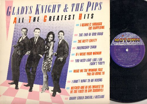 Knight, Gladys & The Pips - All The Greatest Hits: I Heard It Through The Grapevine, The End Of The Road The Nitty Gritty, Friendship Train (Vinyl LP record, 1993 Pressing) - NM9/EX8 - LP Records
