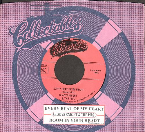 Knight, Gladys & The Pips - Every Beat Of My Heart/Room In Your Heart (double-hit re-issue of vintage recordings with juke box label and Collectables company sleeve) - NM9/ - 45 rpm Records