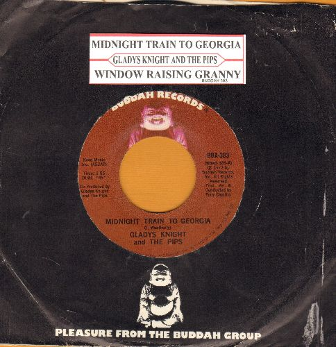 Knight, Gladys & The Pips - Midnight Train To Georgia/Window Raising Granny (with Buddah company sleeve and juke box label) - NM9/ - 45 rpm Records