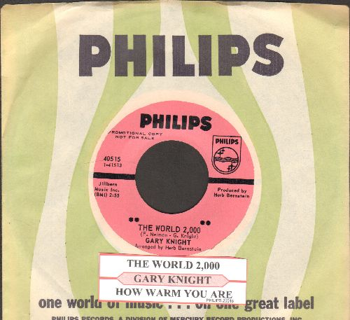 Knight, Gary - The World 2,000/How Warm You Are (RARE DJ advance pressing with juke box label and Philips company sleeve) - M10/ - 45 rpm Records