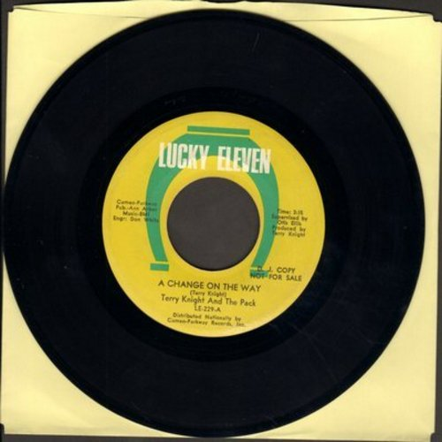 Knight, Terry & The Pack - A Change On The Way/What's On Your Mind (bb) - VG7/ - 45 rpm Records