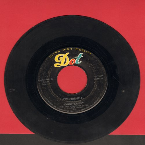 Knight, Sonny - Confidential/Jail Bird - VG7/ - 45 rpm Records