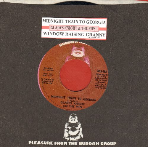 Knight, Gladys & The Pips - Midnight Train To Georgia/Window Raising Granny (with juke box label and Buddah company sleeve) - NM9/ - 45 rpm Records