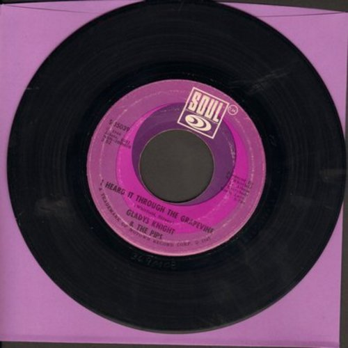 Knight, Gladys & The Pips - I Heard It Through The Grapevine/It's Time To Go Now - EX8/ - 45 rpm Records