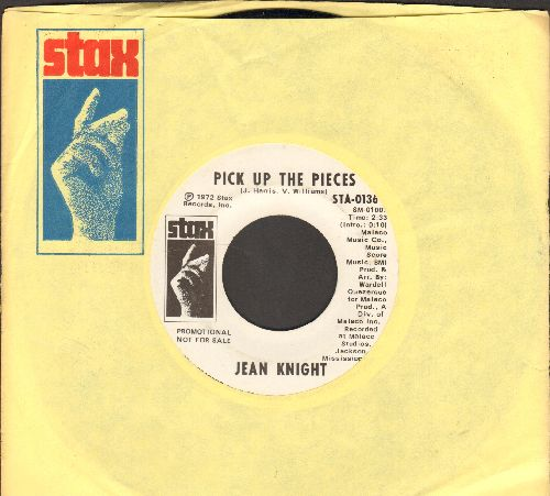 Knight, Jean - Pick Up The Pieces/Helping Man (DJ advance pressing with Stax company sleeve) - EX8/ - 45 rpm Records