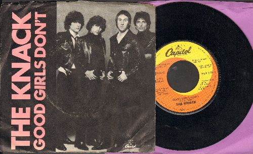 Knack - Good Girls Don't/Fractured (with picture sleeve) - EX8/VG7 - 45 rpm Records