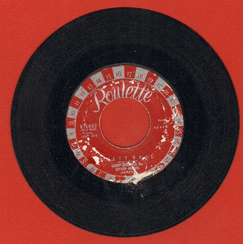 Knox, Buddy - Party Doll/My Baby's Gone (RARE red label with silver type, roulette numbers circling around label) - EX8/ - 45 rpm Records