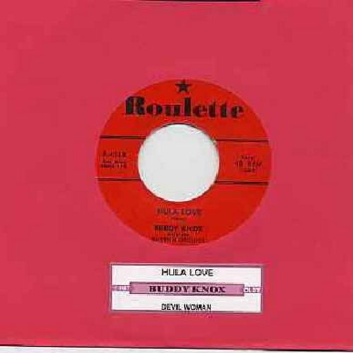 Knox, Buddy - Hula Love/Devil Woman (red label first issue with juke box label) - EX8/ - 45 rpm Records