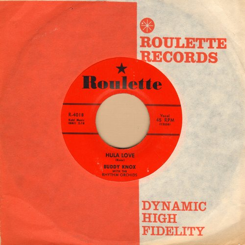 Knox, Buddy - Hula Love/Devil Woman (red label first issue with vintage Roulette company sleeve) - M10/ - 45 rpm Records