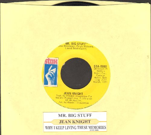 Knight, Jean - Mr. Big Stuff/Why I Keep Living These Memories (with juke box label) - VG7/ - 45 rpm Records