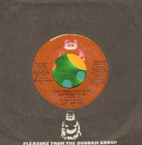 Knight, Gladys & The Pips - Best Thing That Ever Happened To Me/Once In A Lifetime Thing (with Buddah company sleeve) - EX8/ - 45 rpm Records