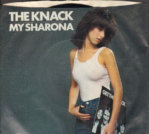 Knack - My Sharona/Let Me Out (Billboard's 1980 Song Of The Year, 6 Weeks at # 1 of US Pop Chart!)(with picture sleeve) - NM9/EX8 - 45 rpm Records