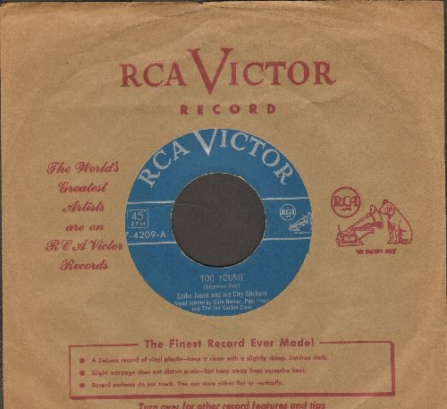 Jones, Spike & His City Slickers - Too Young/So 'Elp Me (with RCA company sleeve) - EX8/ - 45 rpm Records
