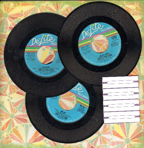 Kool & The Gang - Kool & The Gang 3-Pack includes hits Be My Lady, No Show and Rollin' (shipped in plain white paper sleeves with 4 blank juke box label) - EX8/ - 45 rpm Records