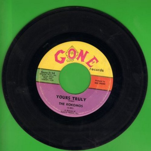 Kokomos - Your Truly/Mama's Boy (wol) - NM9/ - 45 rpm Records