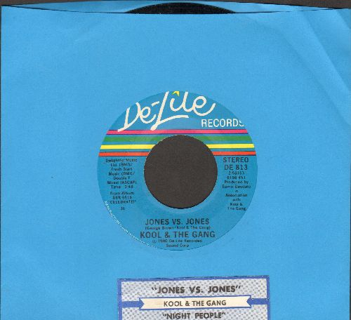 Kool & The Gang - Jones Vs. Jones/Night People (with juke box label) - EX8/ - 45 rpm Records