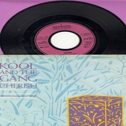 Kool & The Gang - Cherish/Cherish (Instrumental) (German Pressing with picture sleeve) - NM9/EX8 - 45 rpm Records