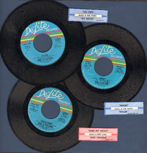 Kool & The Gang - 3-Pack of first pressings includes hits Take My Heart/Misled/Big Fun. Shipped in plain white paper sleeves with juke box labels! - EX8/ - 45 rpm Records