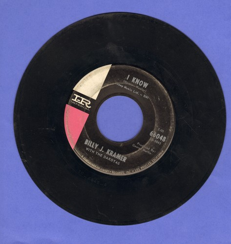 Kramer, Billy J. - I Know/I'll Keep You Satisfied  - VG7/ - 45 rpm Records